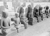 Indonesia, statues of Hindu gods at Borobudur Temple near Yogyakarta