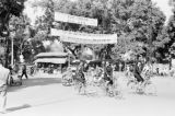 Vietnam, women riding bicycles in Hà Nội street