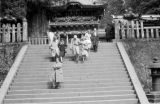 Japan, descending stairs from Omote-mon gate at Toshogu Mausoleum in Nikko