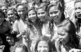 Indonesia, laughing girls at mission in Ruteng