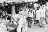 Indonesia, people shopping at market in Banjarmasin
