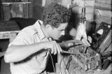 Vietnam, French military personnel soldering equipment during First Indochina War