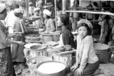Indonesia, women selling goods in Bali market