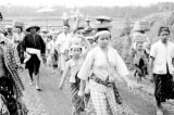 Indonesia, villagers on way to picnic in Bali