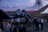 Beirut (Lebanon),  passengers exiting an airplane