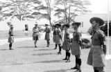 Malaysia, Gurkha soldiers being decorated at military camp
