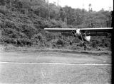 Malaysia, British plane arriving at Fort Dixon