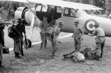 Malaysia, Gurkha soldiers being airlifted from Fort Dixon