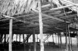 Malaysia, detail of construction of stilt home