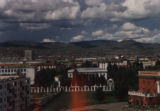 Ulaanbaatar (Mongolia), view of the city with the mountains
