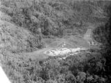 Malaysia, aerial view of Fort Telanok military camp and runway