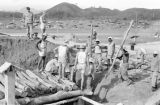 Vietnam, soldiers constructing tunnels at Na Sản military base during First Indochina War