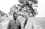 Vietnam, Harrison Forman and Senegalese officer in Vĩnh Phú province