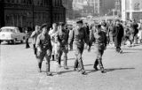 Russia, Soviet Army personnel at Red Square (Russian Krasnaya Ploshchad) in Moscow