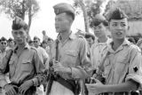 Vietnam, portrait of Vietnamese soldiers serving in First Indochina War