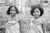 Malaysia, portrait of smiling Semang girls