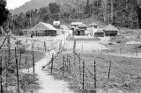 Malaysia, barbed wire surrounding Fort Telanok military camp