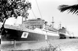 Philippines, Asama Maru ship docked at Manila Bay