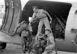 Vietnam, soldiers being airlifted from Na Sản military base during First Indochina War