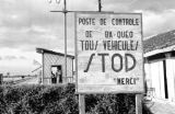 Vietnam, 'stop' sign at control post in Tây Ninh