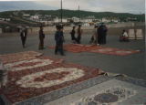 Ulaanbaatar (Mongolia), carpets for sale in the market