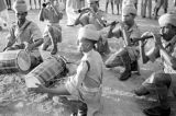 Singapore, musicians with Punjab Regiment performing Khattak war dance