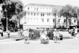 Vietnam, traffic in front of Hotel Continental in Ho Chi Minh City