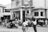 Indonesia, street scene outside Rex Theater in Banjarmasin