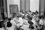 Indonesia, high school students in art class at Jakarta school