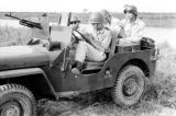 Vietnam, Vietnamese soldiers riding in armored jeep during First Indochina War