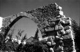 Syria, ruins of arch at Mausoleum of Saladin in Damascus