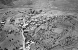 Jordan, aerial view of village