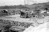 Vietnam, construction over tunnel at Na Sản military base during First Indochina War