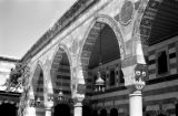 Syria, portico of Tekkiye Mosque in Damascus