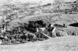 Israel, fortified hillside buildings in Jerusalem