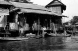 Thailand, view of riverside stores in Bangkok