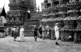 Thailand, Western tourists at Temple of Dawn (Wat Arun) in Bangkok
