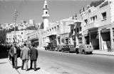 Jordan, 'Ammān street scene with pedestrians and minaret