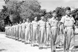 Vietnam, Cao Dai Army soldiers standing at attention in Tây Ninh