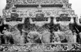 Thailand, detail of statue at Temple of Dawn (Wat Arun) in Bangkok