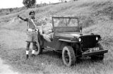 Malaysia, Republic of Fiji Military Forces directing Harrison Forman in Jeep