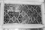 India, carved window in Red Fort building complex in Agra