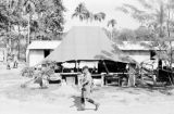 Malaysia, Gurkha soldiers walking through military camp