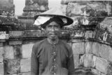 Indonesia, portrait of man at Borobudur Temple Complex in Borobudur