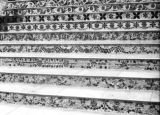 India, patterned stairways of Pareshnath Jain temple in Kolkata
