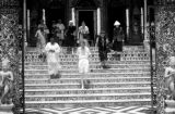 India, Western tourists visiting Pareshnath Jain temple in Kolkata