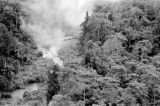 Malaysia, British Royal Navy helicopter landing in jungle