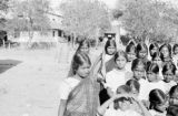 India, girls posing at school in Amalner