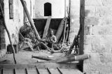 Israel, carpenter working at shop in Nazareth