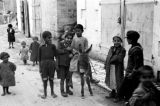 Israel, children with donkey in Bethlehem street